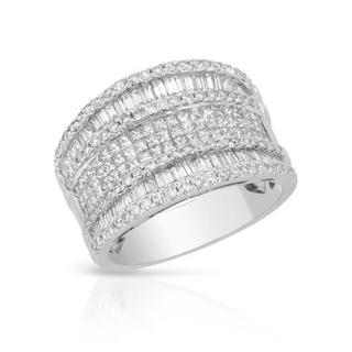 Ring with 1.97ct TW Genuine Super Diamonds in 18K White Gold