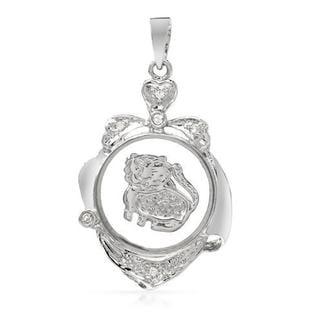18k White Gold Pendant with Diamonds