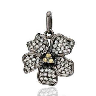 Vida Pendant with Diamonds/ Sapphires 14K Black Gold