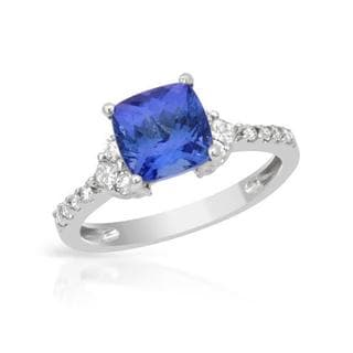 Ring with 2.51ct TW Diamonds and Tanzanite 14K White Gold