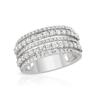 Ring with 1.34ct TW Genuine Diamonds in 14K White Gold