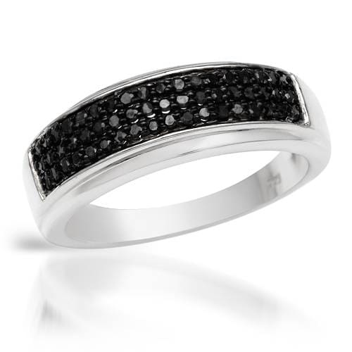 Overstock.com Ring with Genuine Diamonds 925 Sterling Silver at Sears.com
