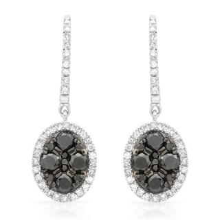 Earrings with 1.1ct TW Diamonds in 14K White Gold