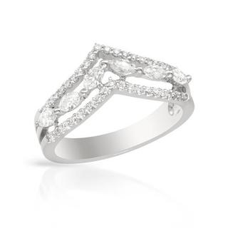 Ring with 0.74ct TW Diamonds Crafted in 18K White Gold