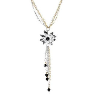 DV Italy Sterling Silver Crystal and CZ Cluster Pendant
