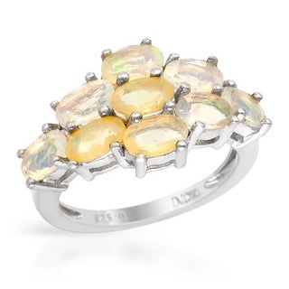 Ring with 2ct TW Opals Crafted in .925 Sterling Silver