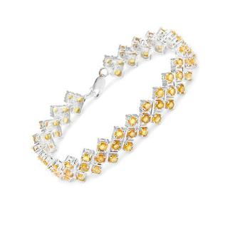 Bracelet with 10.92ct TW Created Sapphires of 925 Sterling Silver