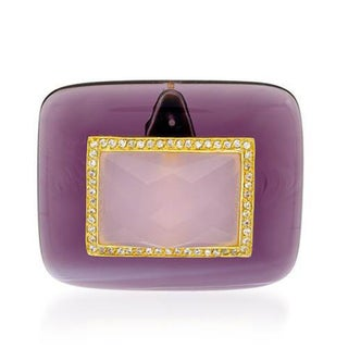 P&P Silver By Giuseppe Pisano Italy Pendant with Cubic Zirconia Simulated Gems 14K/925 Gold-plated S