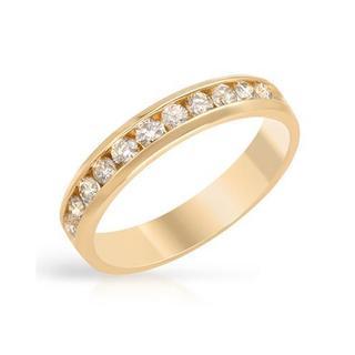 14k Yellow Gold 1/2ct TDW Diamond Channel Wedding Band