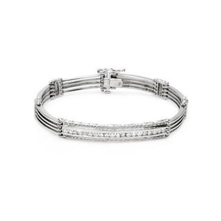 Bracelet with 1ct TW Diamonds Crafted in 14K White Gold