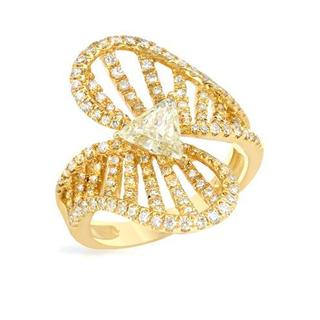 Ring with 1.53ct TW Genuine Diamonds in 14K Yellow Gold