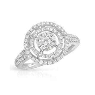 Ring with 0.73ct TW Diamonds in 14K White Gold