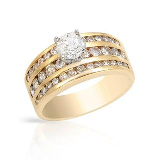 14k Yellow Gold 2ct TDW Diamond Solitaire Engagement Ring