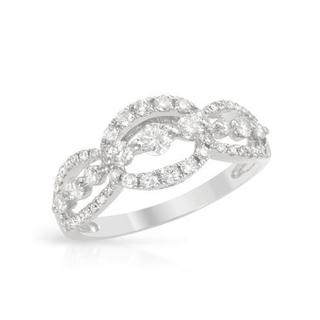 Ring with 0.81ct TW Diamonds in 18K White Gold