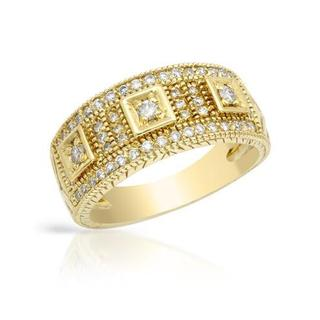 Ring with 0 1/2ct TW Diamonds of 14K Yellow Gold