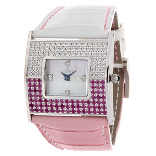 Corum Women's Diamond and Ruby 18k White Gold Multicolor Watch
