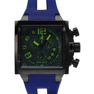 Adee Kaye Men's Blue Rubber Chronograph Watch