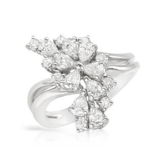 Ring with 1.74ct TW Diamonds Crafted in 18K White Gold