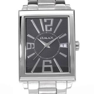 Omax Men's cs490 Silver Stainless Steel Watch