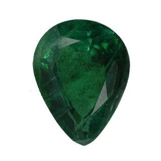 Genuine Brazilian Emerald 2.96ct TW Pear-cut 11 x 8.5mm
