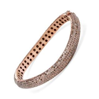 Bracelet with 10.02ct TW Diamonds in Gold-plated Silver
