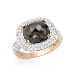 14k Rose Gold 5.21ct TDW Brown and White Diamond Engagement Ring
