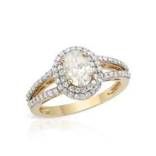 14k Yellow Gold 1.57ct TDW Diamond Engagement Ring