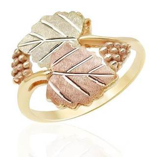 Black Hills Gold Usa Ring Two-tone Gold