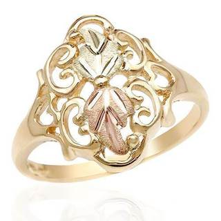 Black Hills Gold Usa Ring in Two-tone Gold