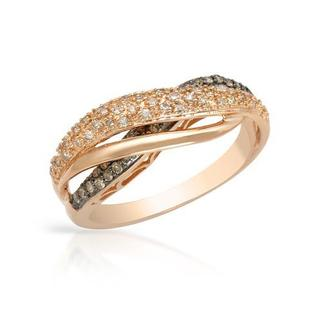 Ring with Diamonds 14K Rose Gold