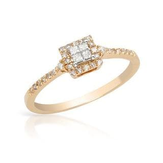 Ring with Diamonds in 14K Rose Gold