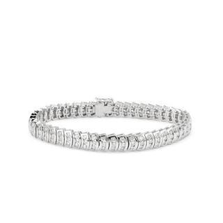18k White Gold Tennis Bracelet with 5.14ct TW Diamonds
