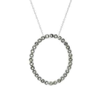 Necklace with 3.84ct TW Sapphires in .925 Sterling Silver