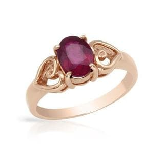 Ring with 1.4ct TW Ruby in Rose Gold