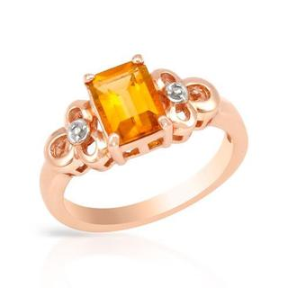 Ring with 1.4ct TW Citrine in Rose Gold
