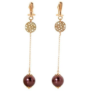 Rosato 9k Gold Faux Pearls Elegant Earrings