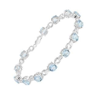 Bracelet with 22.10ct TW Genuine Topazes of 925 Sterling Silver