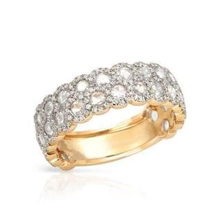 Ring with 1.99ct TW Genuine Super Diamonds of 18K Yellow Gold