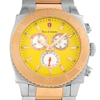 Men's en040l.311 Two-tone Gold-plated Stainless Steel Chronograph Watch