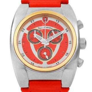 Tonino Lamborghini Men's en040l.311 Red Leather Chronograph Watch