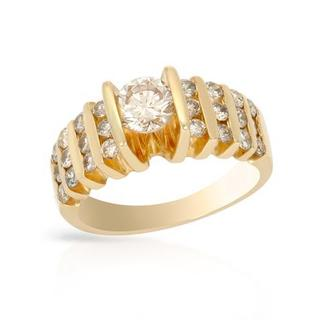 14k Yellow Gold 1.41ct TDW Diamond Solitaire Engagement Ring