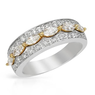 Ring with 1.2ct TW Diamonds in 14K Two-tone Gold