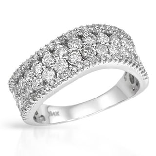 Ring with 1.58ct TW Diamonds Crafted in 14K White Gold