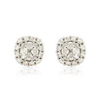 Stud Earrings with 1.00ct TW Genuine Diamonds in 14K Yellow Gold
