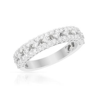 Ring with 0.89ct TW Diamonds in 18K White Gold