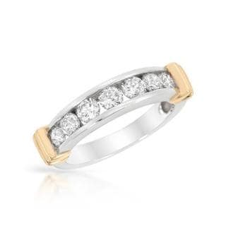 14k Two-tone Gold 1.06ct TDW Diamond Channel Wedding Band