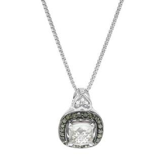 Krementz Necklace with 1.1ct TW Amethyst, Diamonds .925 Sterling Silver
