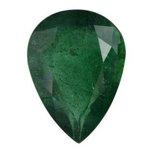 Genuine Brazilian Emerald Minimum 4 1/2ct TW Pear-cut 14 x 10mm