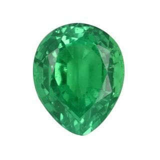 Lab Grown Emerald Minimum 2ct TW Pear-cut 10 x 8mm