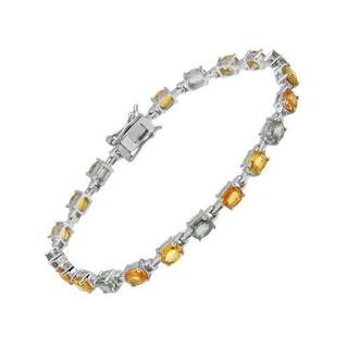 Bracelet with 1ct TW Sapphires in .925 Sterling Silver